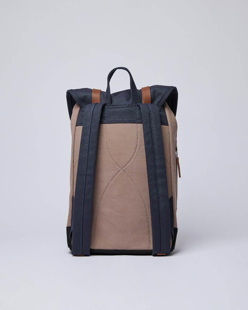 Sandqvist - Backpack - Navy and Brown - STIG 3