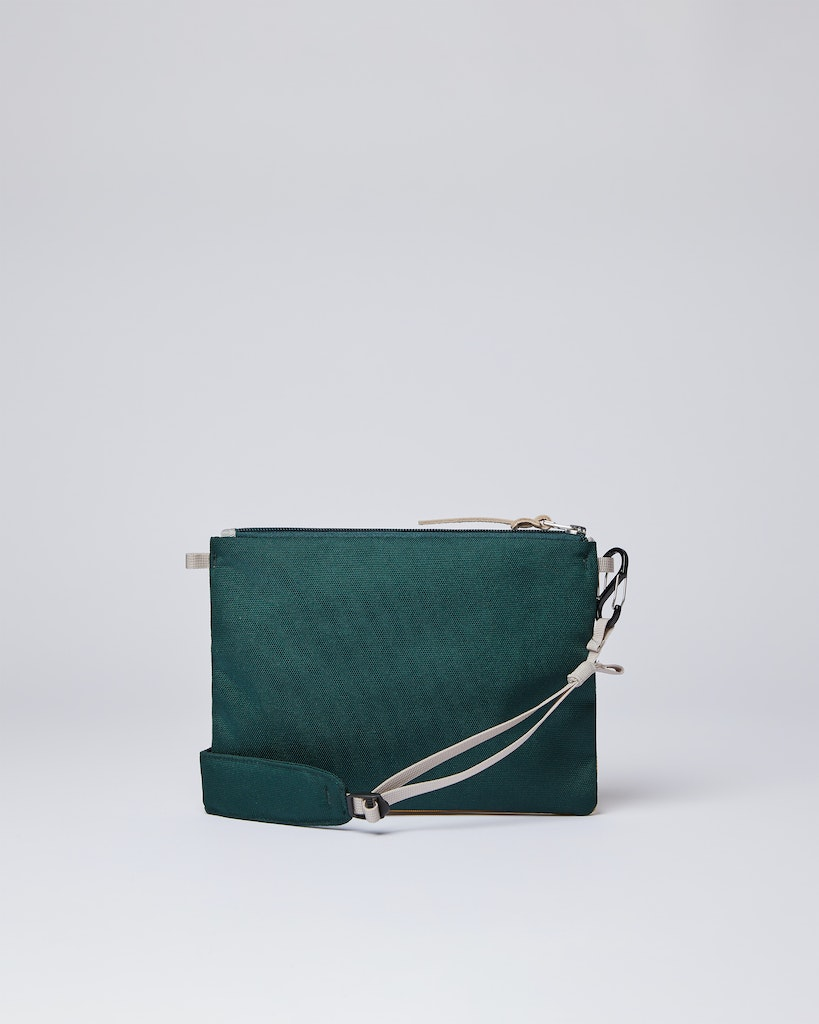 Sandqvist - Zip Pouch - Green and Yellow - LUDVIG 2