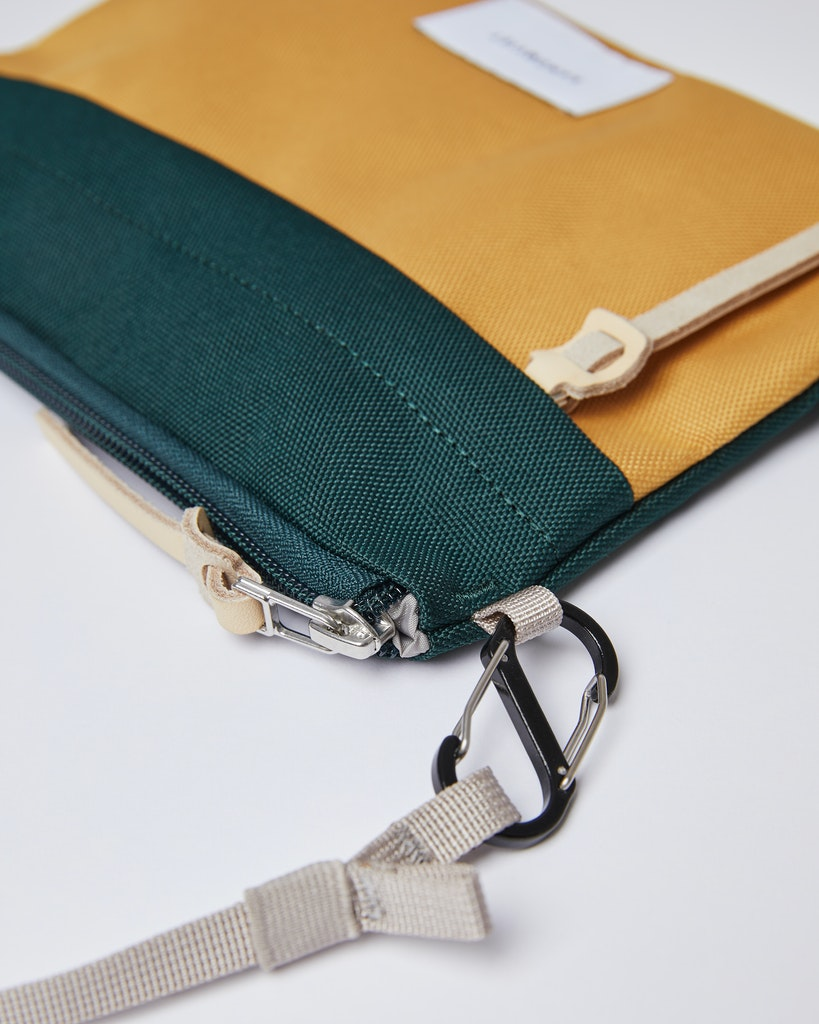 Sandqvist - Zip Pouch - Green and Yellow - LUDVIG 1