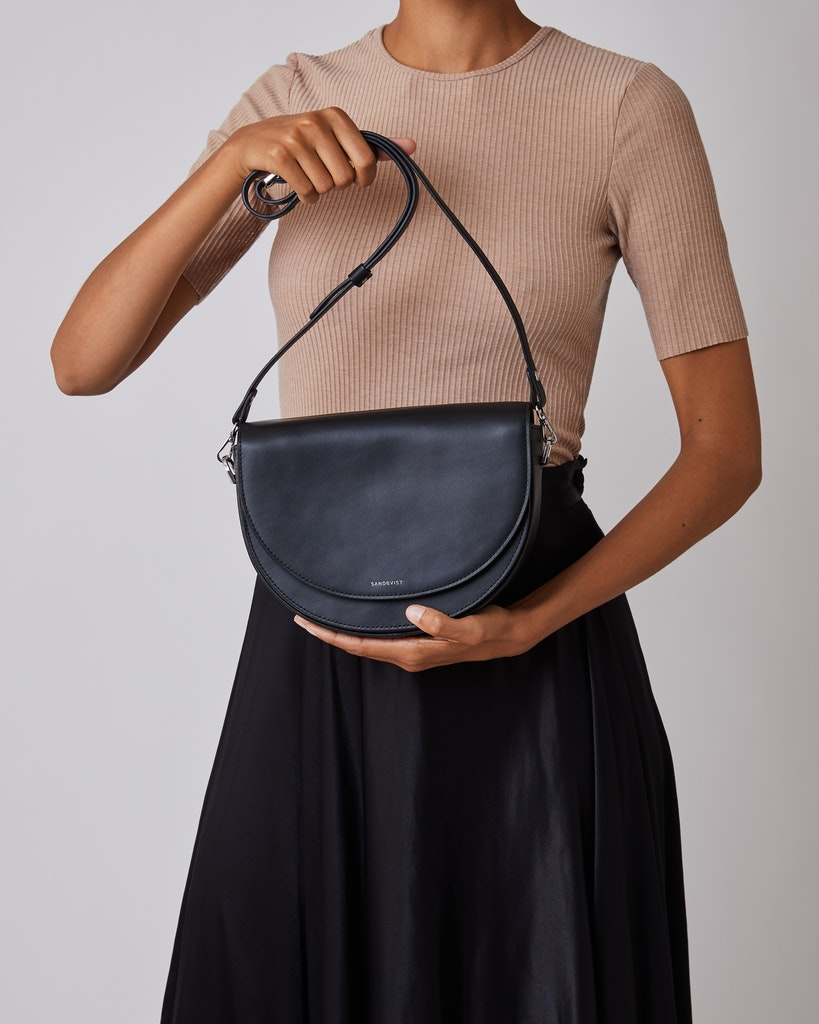 Sandqvist - Shoulder bag - Black - SELMA LEATHER 2