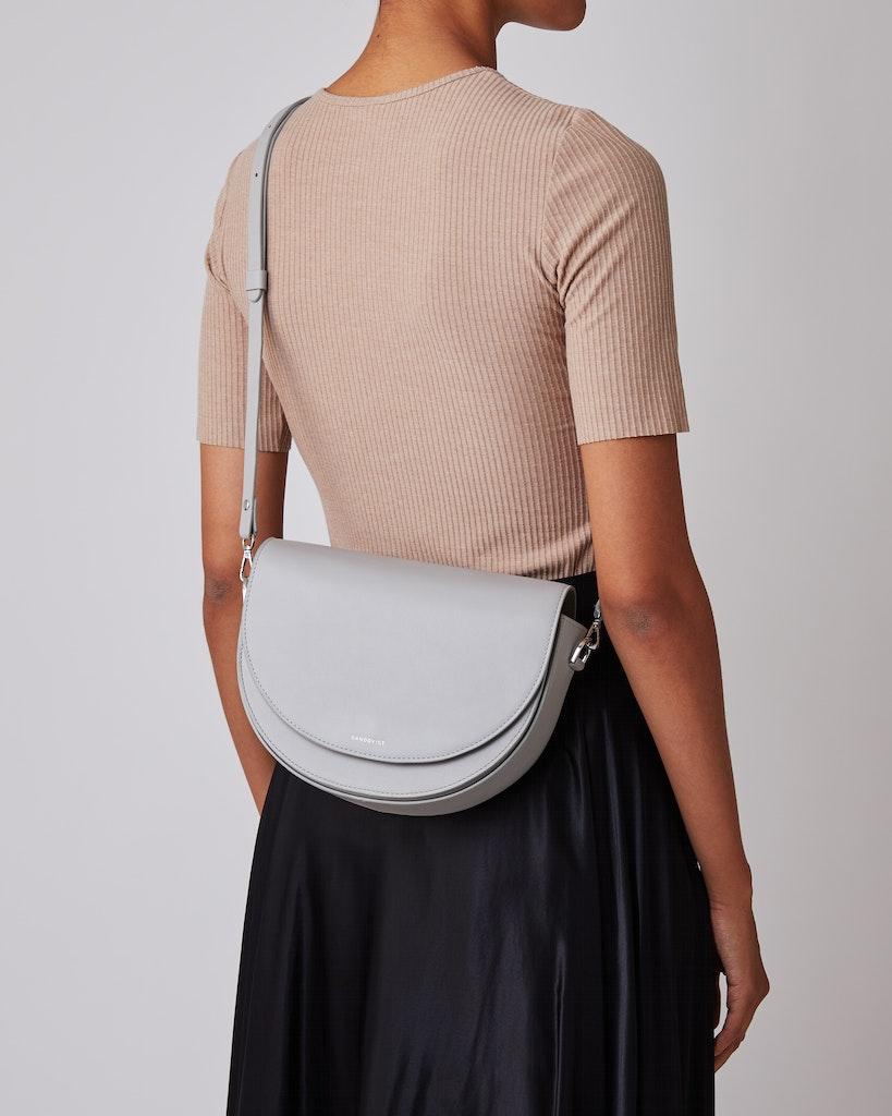 Sandqvist - Shoulder bag - Grey - SELMA LEATHER 2