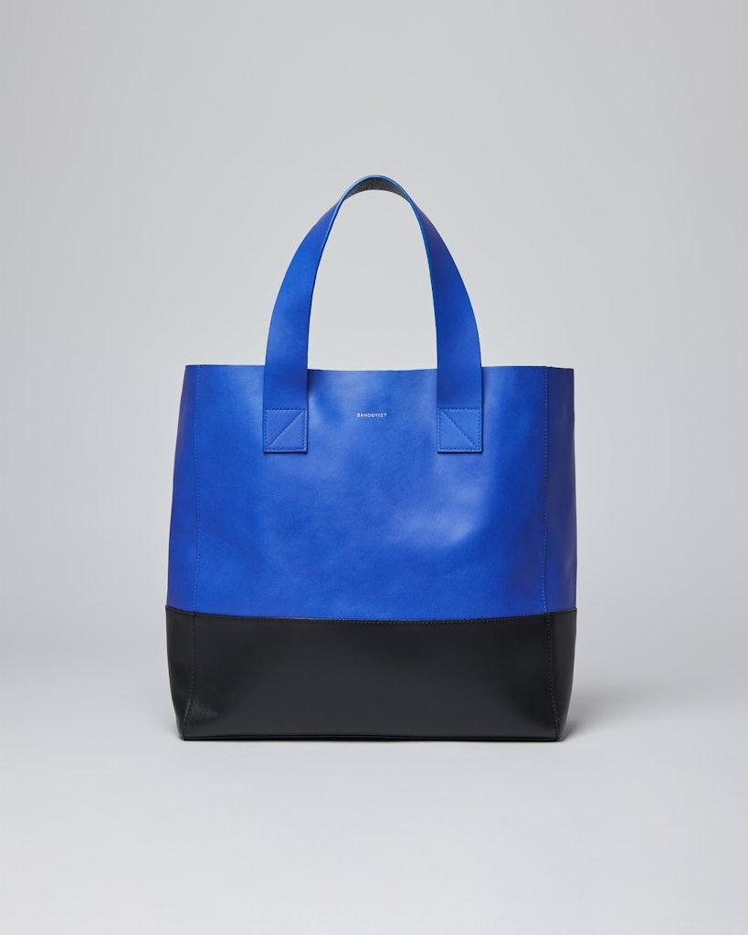 Sandqvist - Tote Bag - Blue and black - IRIS