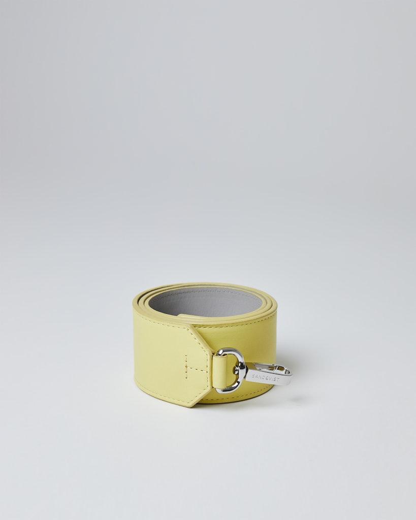 Sandqvist - Shoulder strap - Yellow - SHOULDER STRAP LEATHER
