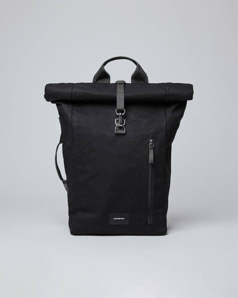 Sandqvist - Backpack - Black - Black webbing - DANTE METAL HOOK