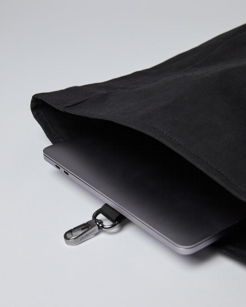 Sandqvist - Backpack - Black - Black webbing - DANTE METAL HOOK 4