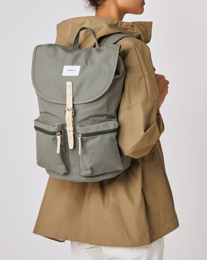 Sandqvist - Backpack - Dusty Green - ROALD 2