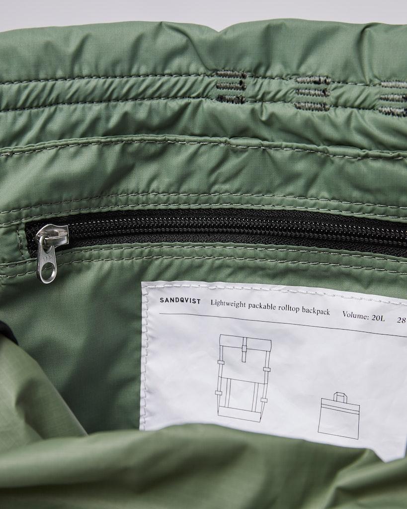 Sandqvist - Backpack - Dusty - Green - BERNT LIGHTWEIGHT 4