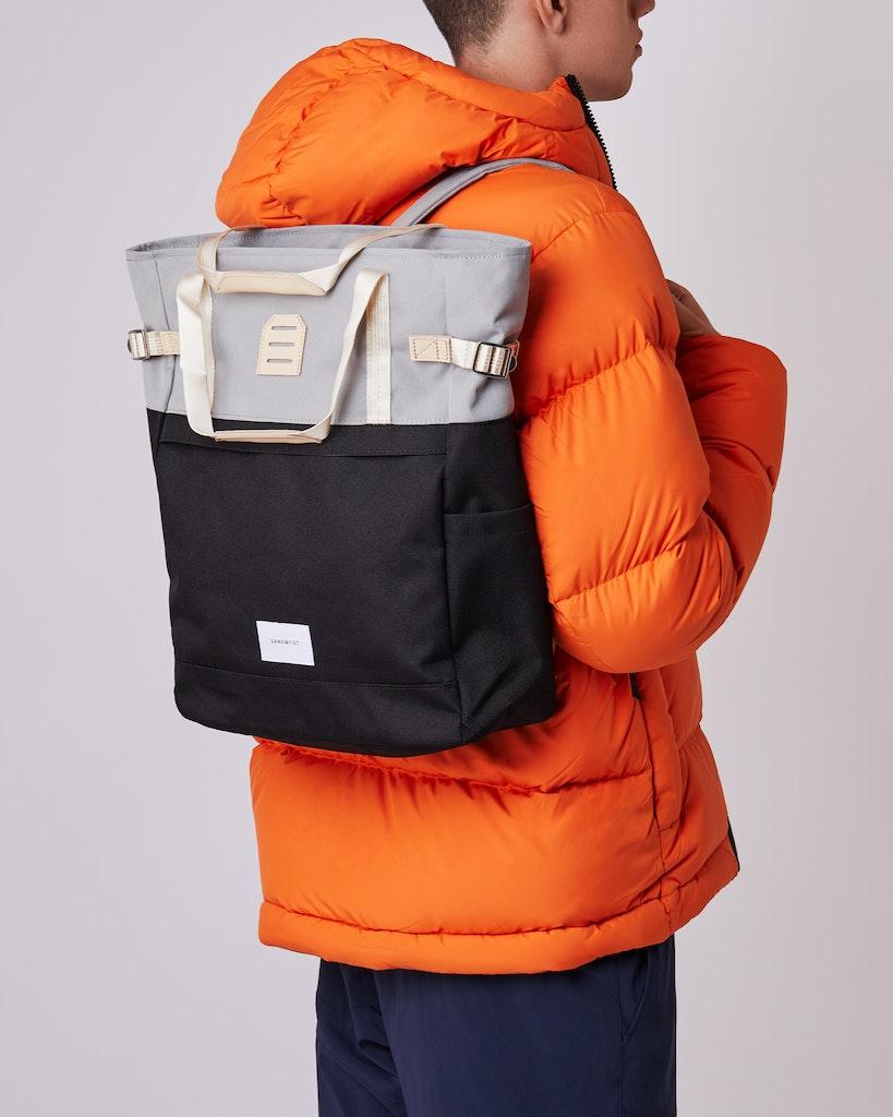 Sandqvist - Backpack - Grey - Black - ROGER 2