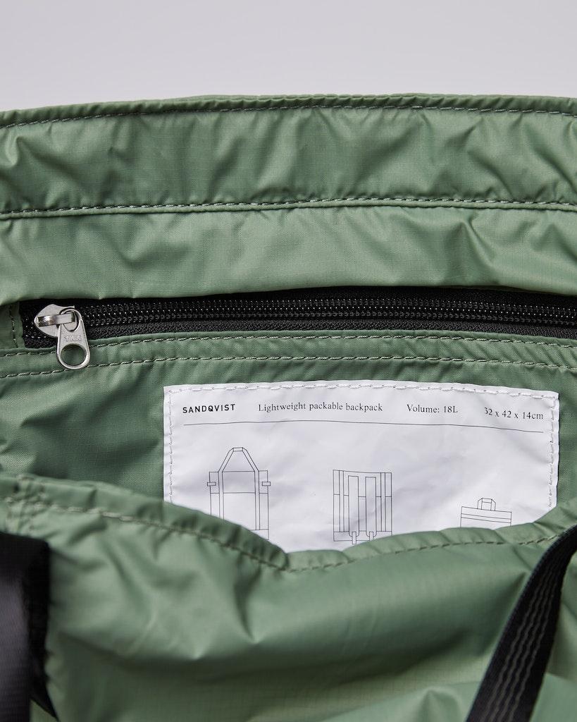 Sandqvist - Backpack - Dusty - Green - ROGER LIGHTWEIGHT 4