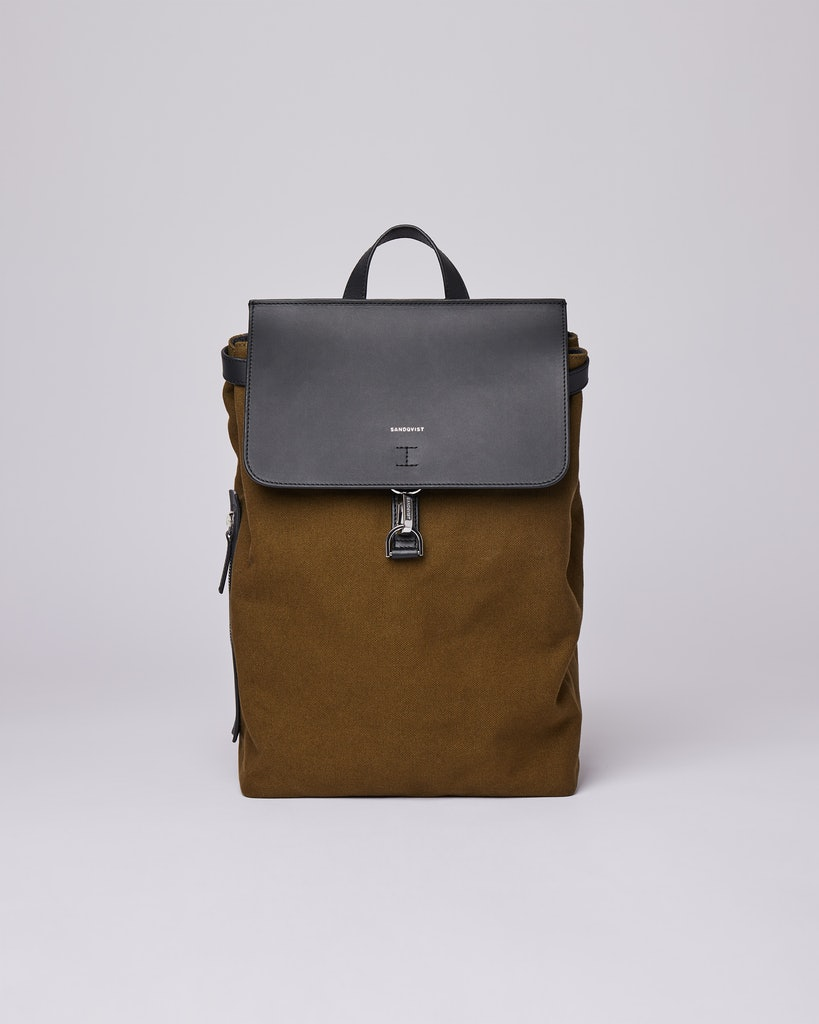 Sandqvist - Backpack - Olive - ALVA METAL HOOK