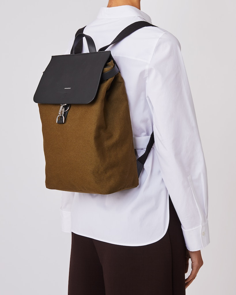Sandqvist - Backpack - Olive - ALVA METAL HOOK 2