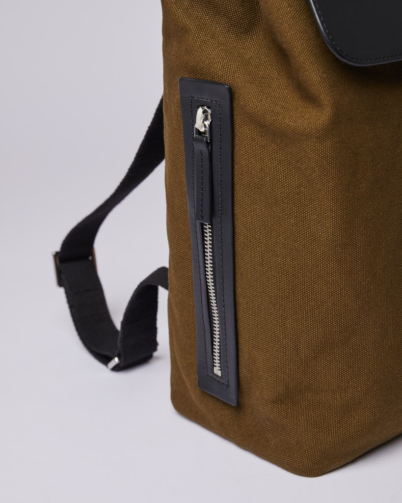 Sandqvist - Backpack - Olive - ALVA METAL HOOK 4