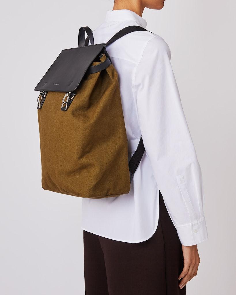 Sandqvist - Backpack - Olive - HEGE METAL HOOK 2