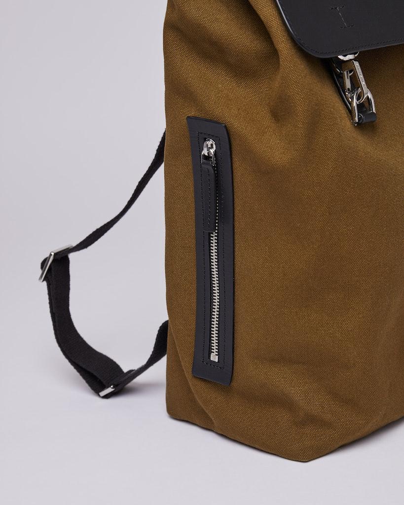 Sandqvist - Backpack - Olive - HEGE METAL HOOK 4