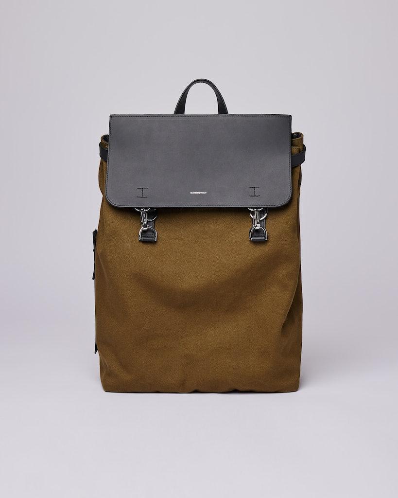 Sandqvist - Backpack - Olive - HEGE METAL HOOK
