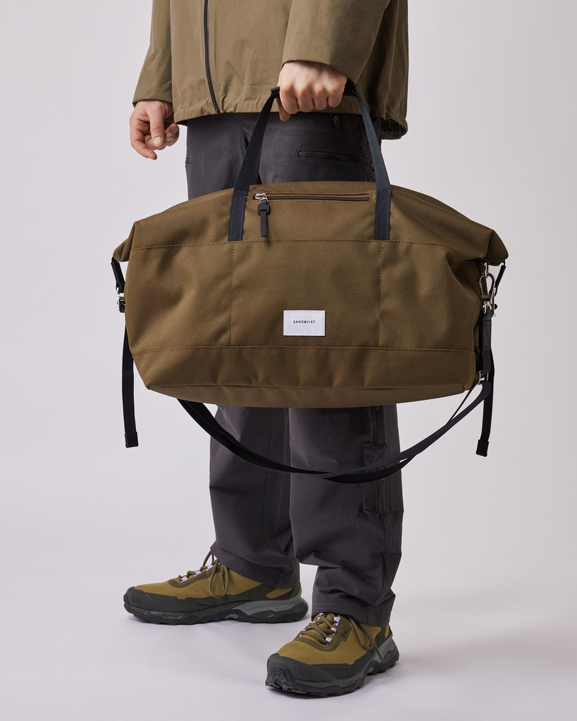 Sandqvist - Weekend Bag - Olive - Black- Leather MILTON 6