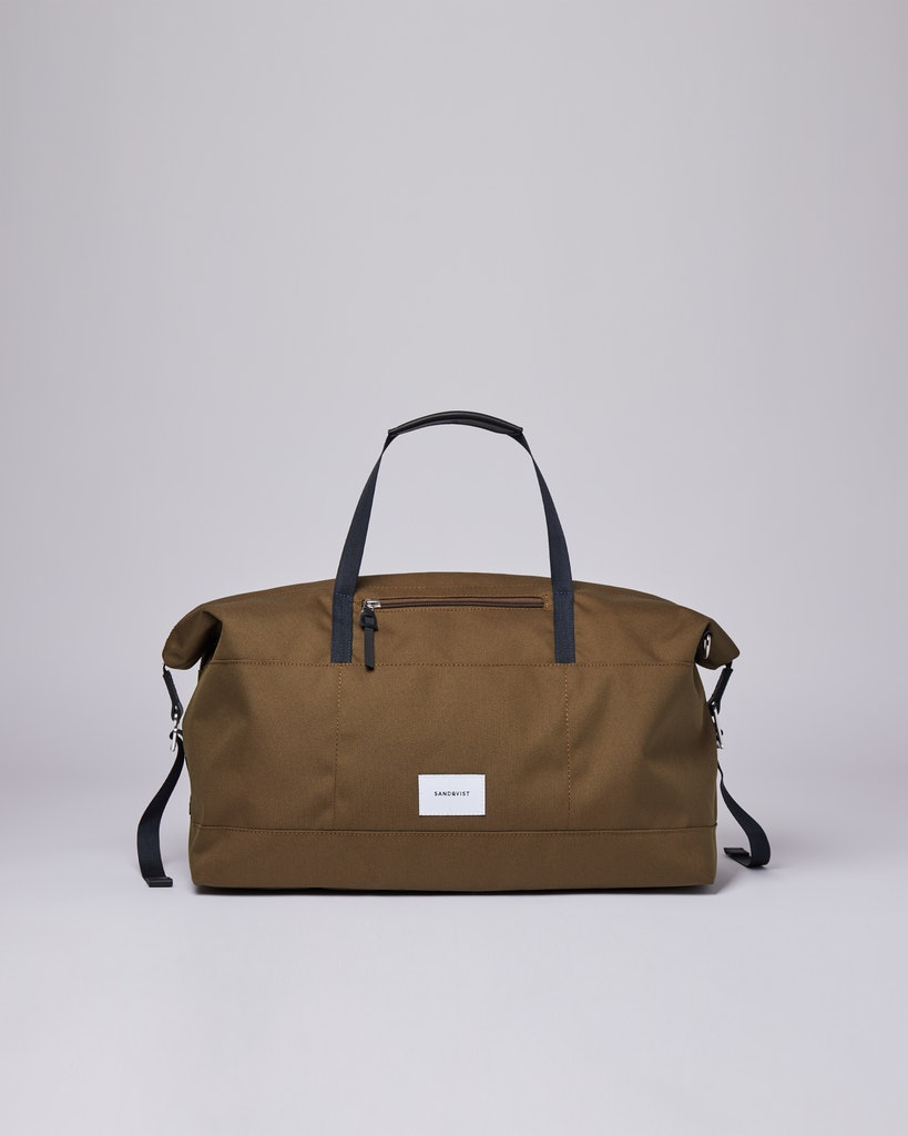 Sandqvist - Weekend Bag - Olive - Black- Leather MILTON