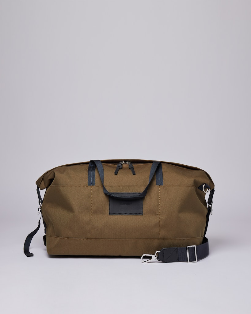 Sandqvist - Weekend Bag - Olive - Black- Leather MILTON 2
