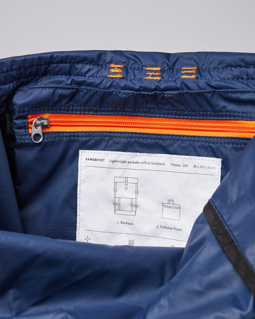 Sandqvist - Backpack - Multi - Navy - blueevening -blue - BERNT LW 4