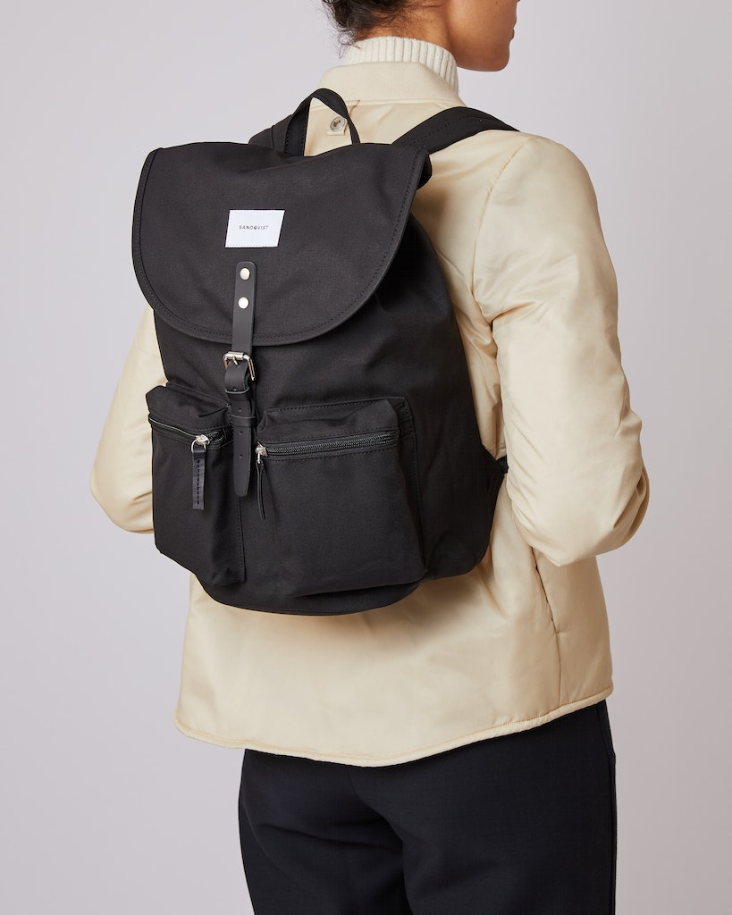 Sandqvist - Backpack - Black - ROALD 2