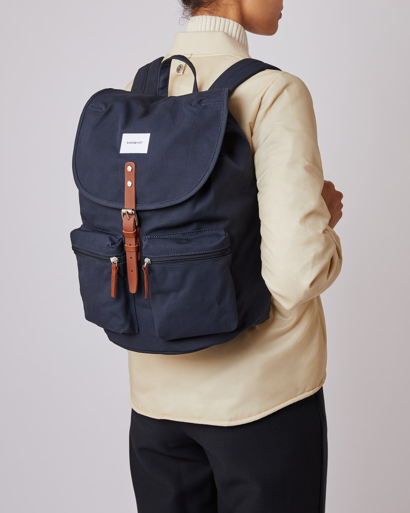 Sandqvist - Backpack - Navy - ROALD 6