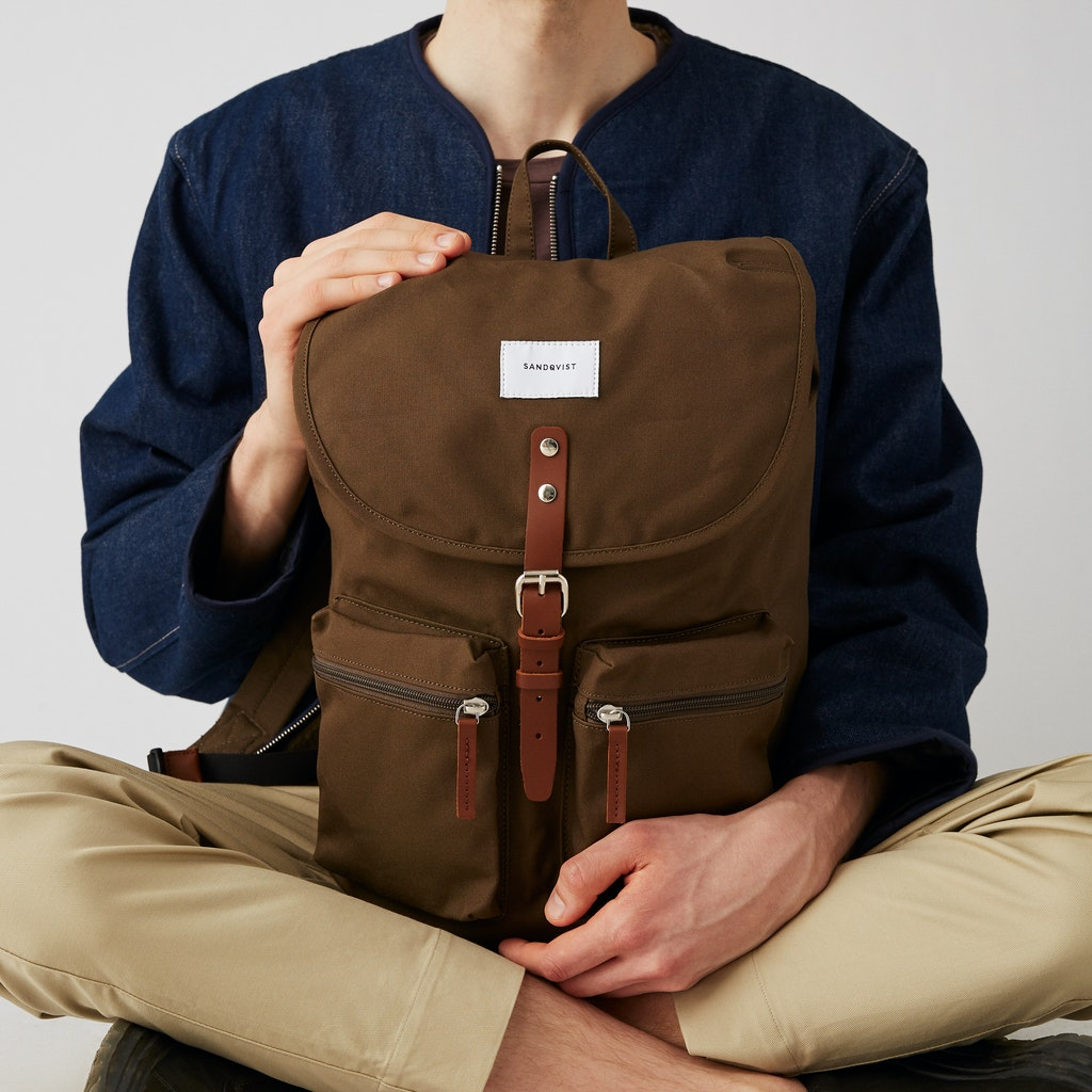 Sandqvist - Backpack - Green - ROALD 2