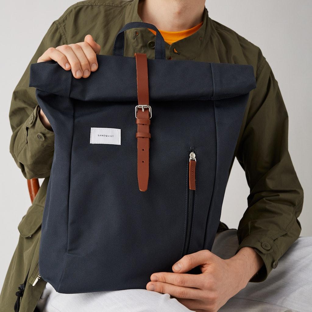 Sandqvist - Backpack - Navy - DANTE 4