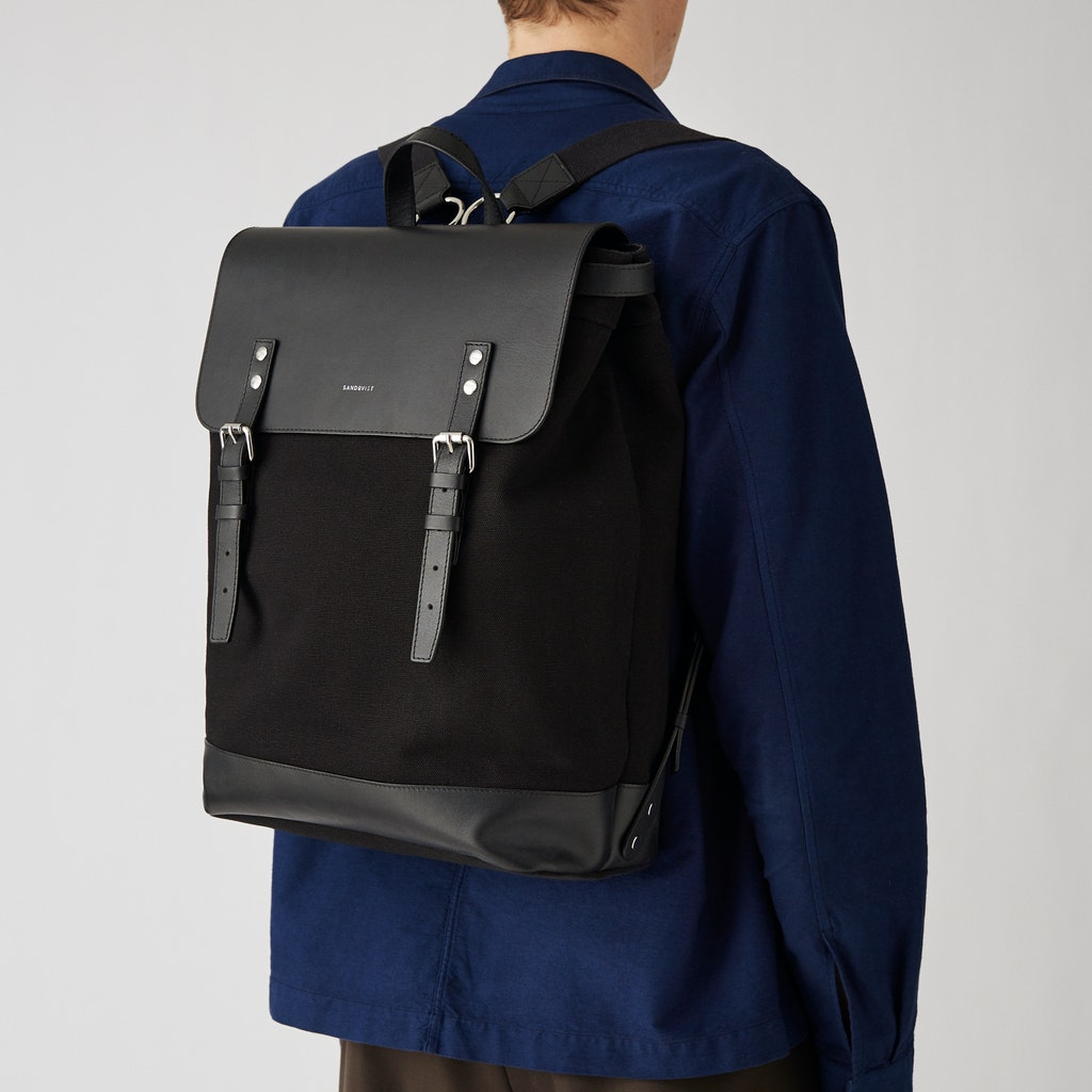 Sandqvist - Backpack - Black - HEGE 5